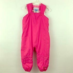 Columbia Pink Fleece Lined Snow Pants 24m